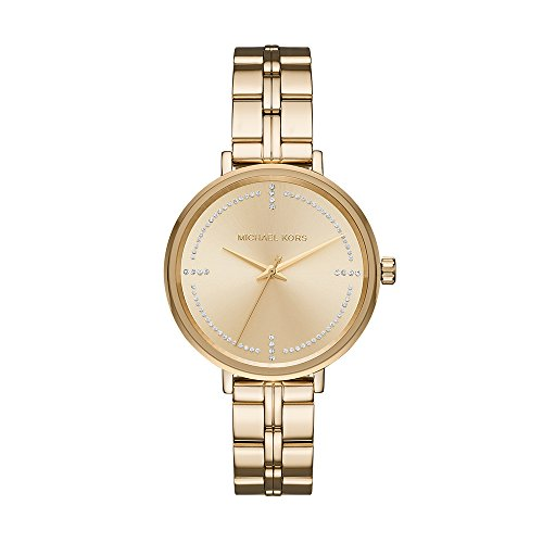 Michael Kors Damen Analog Quarz Uhr mit Edelstahl Armband MK3792
