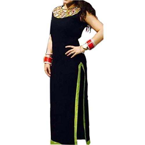 Ethnic Empire Black COLOR LATEST INDIAN DESIGNER ANARKALI SALWAR KAMEEZ DRESS for...