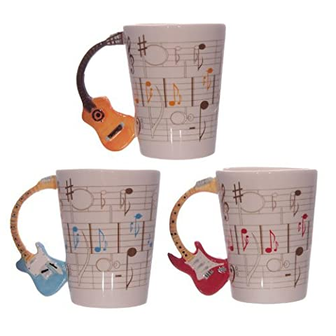 Unusual Guitar Handle Mug *Gift for Men*Fathers Day Present*Coffee or