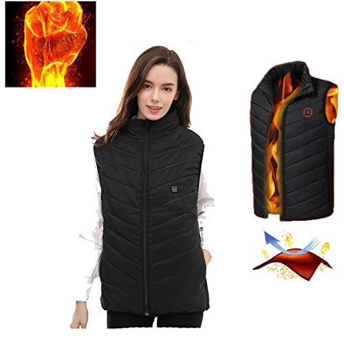 ONEBUYONE Elektrisch beheizte Warm-Weste Elektro-USB beheizte Waistcoats Adjustable Size Unisex Winter Warm geheizte Kleidung für Männer Frauen Outdoor Reiten Fischen Camping ()