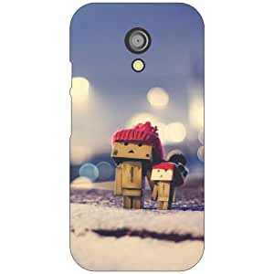 Betadesign Back Cover for Moto G 2nd Genration (Multicolor)
