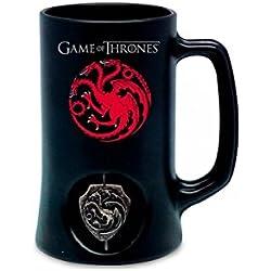 Juego de Tronos Jarra de cerveza 3D Rotating Targaryen Black
