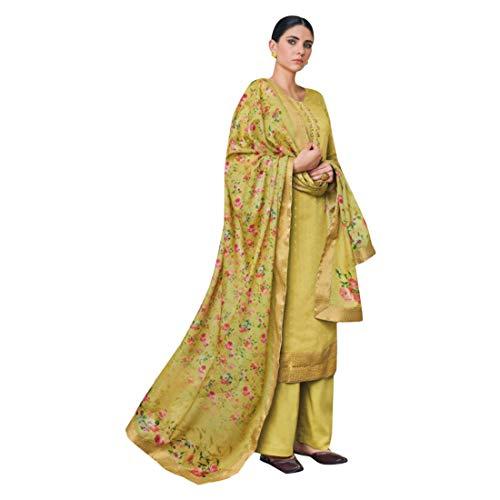 Georgette Palazzo Hose (Designer Ethnic Party Wear indischen geraden Kameez Anzug mit Palazzo Hosen Bollywood Hochzeit muslimischen Kleid Frauen Women semi Stitched 8177)
