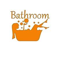 VICOLDER Woman Shower Bathtub Wall Stickers Bathroom Toilet Art Mural Home Decor Window Glass Door Waterproof Wallpaper Vinyl Wall Decals