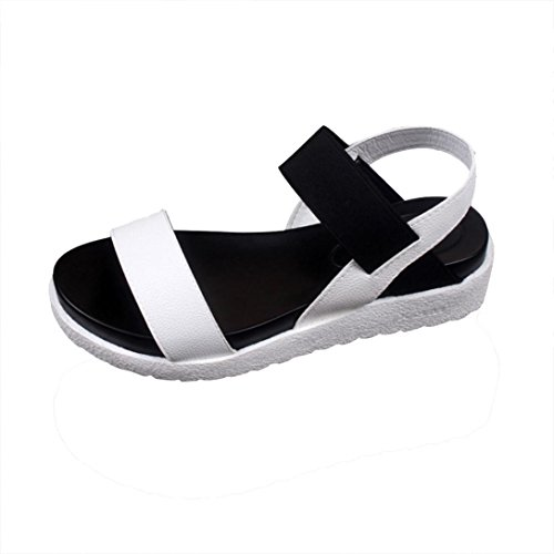 FEITONG Women's Summer Sandals Shoes Peep-toe Low Shoes Roman Sandals Ladies Flip...