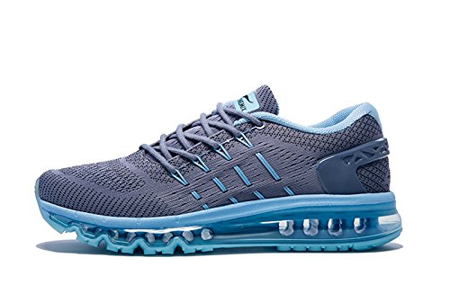 Onemix Homme Air Baskets Course Gym Fitness Sport Chaussures Gris