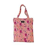 by soljo Cat Mouse Flowers Shopper Shoulder Bag Shopping Bag 34 cm x 32 cm x 5 cm