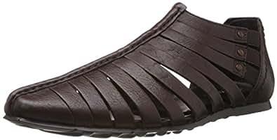Franco Leone Men's Bordo Leather Sandals and Floaters - 10 UK/India (44 EU)