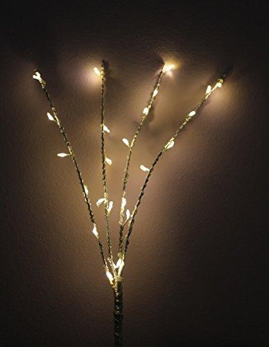 Weihnachtsdeko Lichter.35cm Leuchtzweig 24 Leds Dekozweig Beleuchtung Warmweiss Zweig