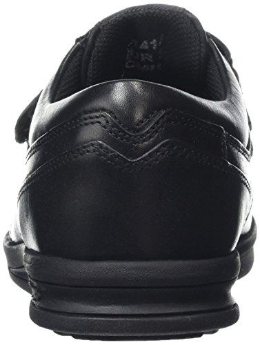 Kickers Troiko Strap-Junior, Mocassins Garçon Noir - Noir