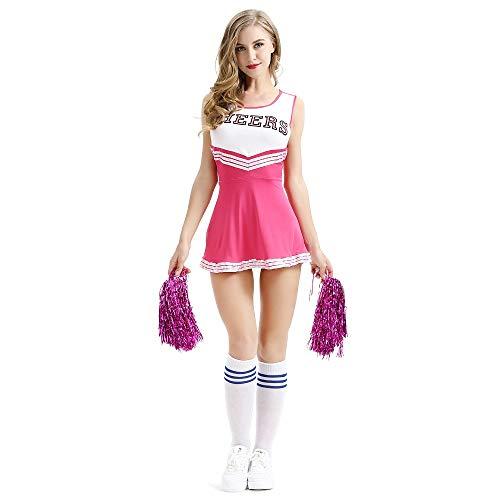 Kostüm Reality Show - Jasmine7 Damen Cheerleading Kostüm Minirock Musik Uniform Kostümparty Komplettausstattung