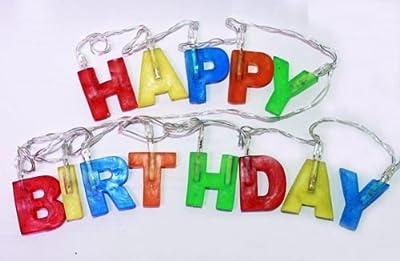 HAAC Led Lichterkette Buchstaben Happy Birthday bunt Länge 200 cm von HAAC - Lampenhans.de