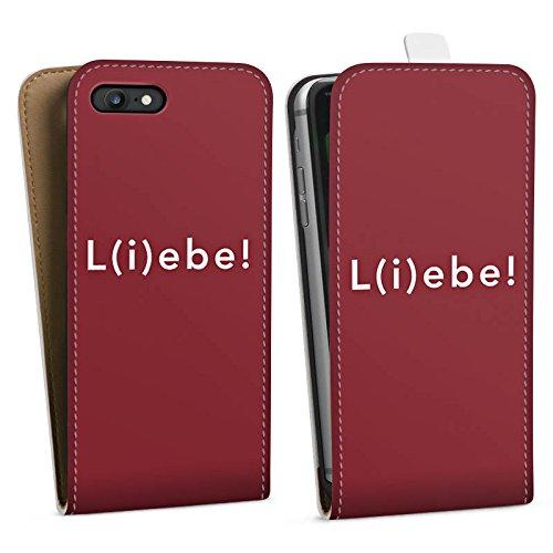 Apple iPhone X Silikon Hülle Case Schutzhülle Sprüche Liebe Lebe Downflip Tasche weiß