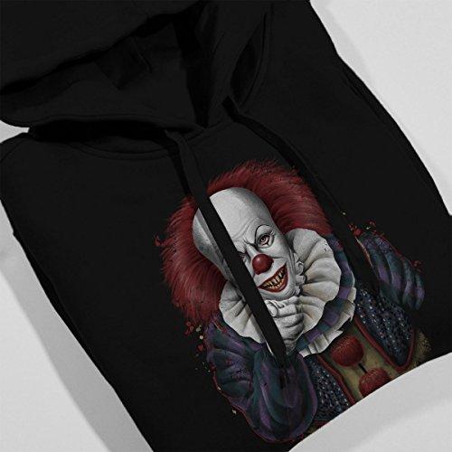 Stephen King Pennywise The Clown Uncle Sam Women's Hooded Sweatshirt Black