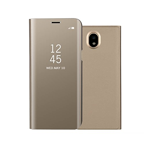 7a7a0898bed Samsung Galaxy J7 2017 espejo Funda de espejo Flip Case, Espejo Reflexión  Brillante Ultra fino