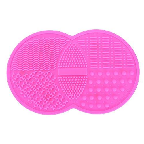 Babysbreath Cepillo de maquillaje cepillo de limpieza cepillo cosmético cepillo de limpieza lavadora de silicona lavador de succión taza de succión Rosado