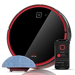 Saugroboter Staubsauger 2200Pa starke Saugkeit, super ruhig, Wi-Fi Anschließung, Kehren und Wischen Vakuumrobotsauger, günstig für Tierhaare, Teppiche sowie harte Boden, selbstaufladend-Lefant T700