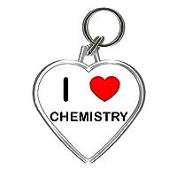 I Love Chemistry - Heart Shaped Key Ring