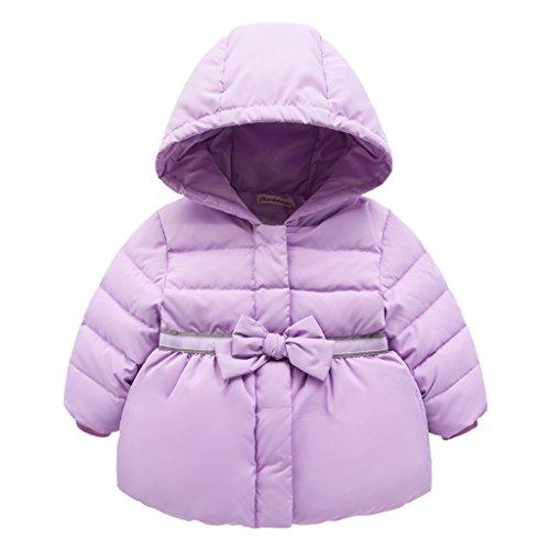 Vine piumino bambino giacche di piuma giubbotti per ragazze inverno cappotti con cappuccio, 1-2 anni