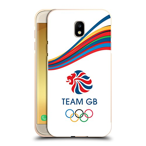 Head Case Designs Official Team GB British Olympic Association Fluid Bands 2 Rio Gold Metallic Aluminium Bumper for Samsung Galaxy J5 (2017) (Gold Band Rim)