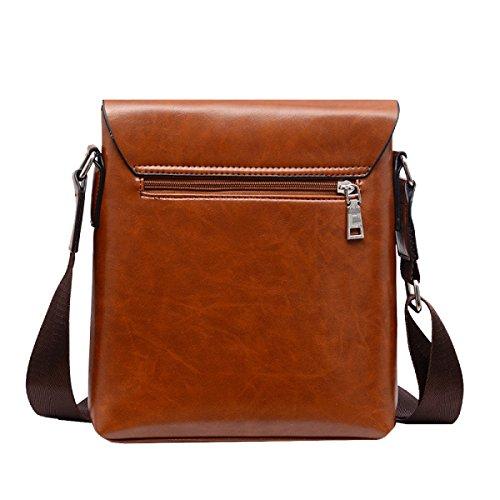Yy.f Neue Männer Geschäftsbeutel Kurierbeutel Mode Für Männer Taschen Mappen Taschen Solides Großzügiges Paket Kühltasche Brown