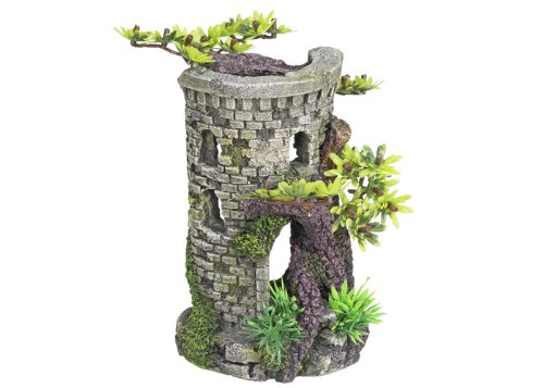 "Nobby 28312 Aquarium Dekoration Aqua Ornaments ""Turm\"" mit Bonsai 9 x 10 x 15 cm"