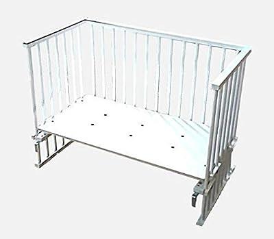 Suabia Kids® Blanca cama auxiliar anstell Lactancia cama inkl. Zöllner Juego de ropa y cuna en blanco