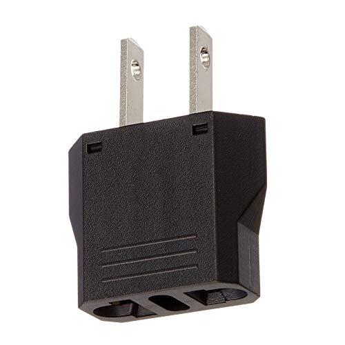 Naisicatar Universaleinfaßungs-Europa nach USA-Reise-Adapter Portable Power Stecker Mini Travel Wandler 2-Pin-Stecker Travel Adapter Durable und Pratical Mini Travel Ac Adapter