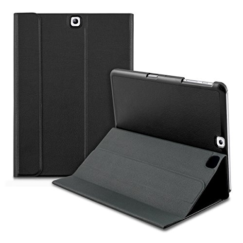 custodia tablet samsung s2 9.7 kwmobile Sottile Smart Cover per Samsung Galaxy Tab S2 9.7 con Chiusura Magnetica e Supporto - Custodia a Libro di Similpelle in Nero