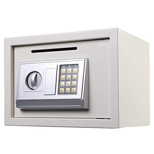 Electronic Digital Home Safe Cash Lock Stahl Sicherheit Box weiß für Büro Oder Zuhause Verwenden, Wand Oder Boden montiert 16L -
