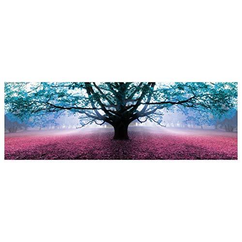 Cuadro Árbol Vida romántico Azul Lienzo Dormitorio