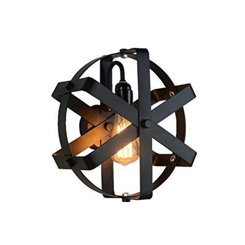 Industrial Design Wandlampe Vintage Wandleuchte Industrie Rund Ring Rad Wandbeleuchtung 1-flammig E27 Metall Lampen für Flur Korridor Schlafzimmer Restaurant Cafe Bar Loft Diele Keller Lampe Ø30cm -
