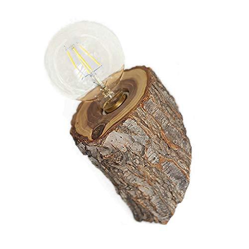 Spots muraux Applique Applique en Bois Massif Créatif Lampe De Chevet À LED 14cm Lampe De Jardin Lampe De Chambre Couloir D'hôtel Lampe De Couloir De Restaurant Marron