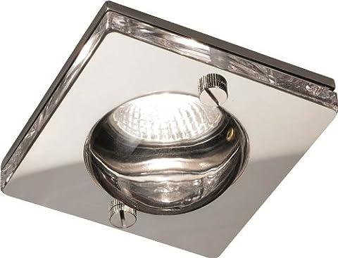 KNIGHTSBRIDGE CH15GUSCL - 50W Decorative Square Glass Fluorescent Downlight IP65