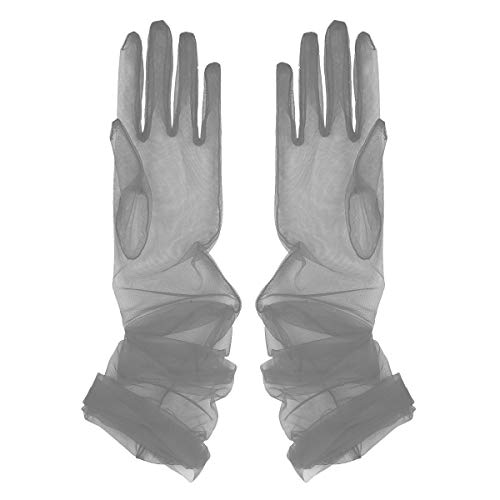CHICTRY Guantes Tul Transparente Mujer Vintage Guantes
