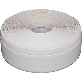 Weichsockelleiste selbstklebend weiß 10m, Winkelleiste, Sockelleiste, MS009