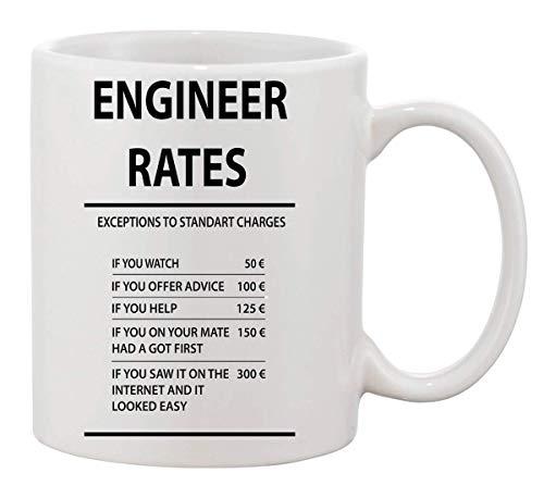 KRISSY Engineer Rates Ingenieur Profession Costs Coffee Mug Cup Kaffeetasse