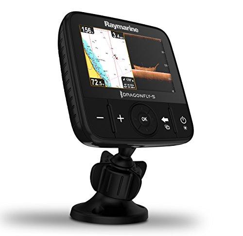 Raymarine E70295-CROW Dragonfly-5M GPS-Kartenplotter mit C-MAP ROW Essentials Karte 12,7 cm (5 Zoll)