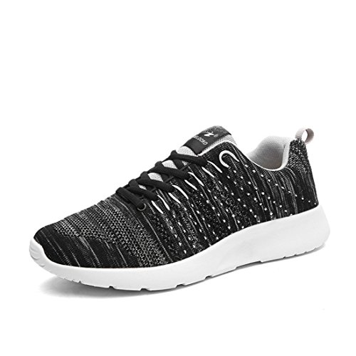Men's Breathable Lace Up Outdoor Athletic Walking Shoes Black