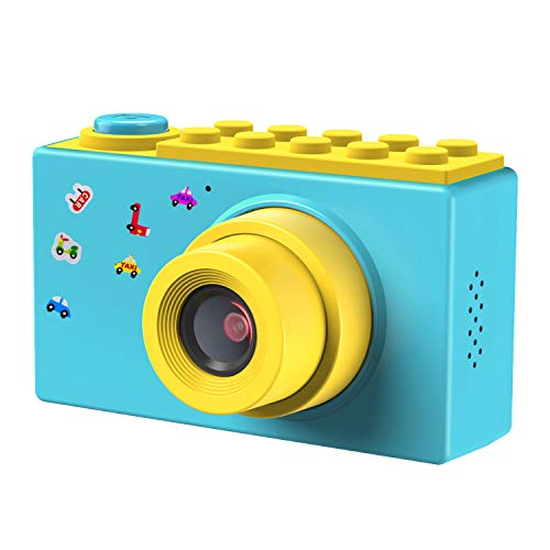 FishOaky Kamera Kinder, Digitale Kamera Kinder, Digitalkamera Videokamera Fotoapparat Kinder Full HD 1080P / 8MP / 4X Digitaler Zoom / 2 Zoll LCD Bildschirm / 256M TF Karte (Blau)