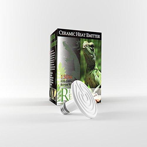 150W Keramik Reptile Heat Emitter, Infrarot Wärmelampe für Reptilien & Huhn brooders AC 220V (150W, weiß)