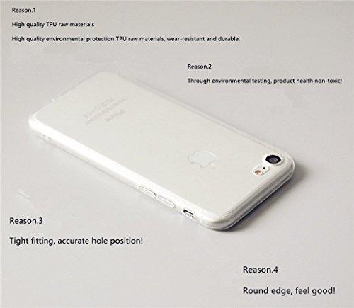 coque iphone 6 silicone transparente avec motif MUTOUREN Housse Etui TPU Silicone cover pour iPhone 6/6S Clear Clair Transparente Gel Slim ultra-mince Hybrid Crystal Clear -Flamingos 15 Flamingos16