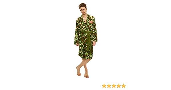 3f40250f64461 Only Fools and Horses Rodney Camo jacket Adult Mens Bathrobe Dressing Gown  LARGE: Amazon.co.uk: Clothing