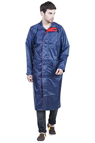 Versalis Men's Polyester Raincoat - Rain Champ (Blue - L)