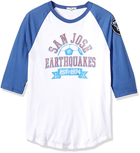 Junk Food Herren 3/4 Raglan Tee, Herren, Clothing Men's MLS Raglan, Ew/Li, X-Large -