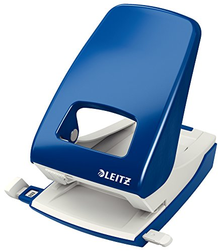 Leitz Locher, 40 Blatt, Blau, Anschlagschiene mit Formatvorgaben, Metall, NeXXt, 51380035