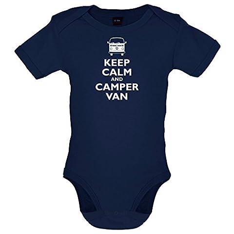 Keep Calm and Camper Van - Lustiger Baby-Body - Marineblau