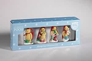 Classic Winnie The Pooh - Hanging Christmas Ornaments (Set of 4)