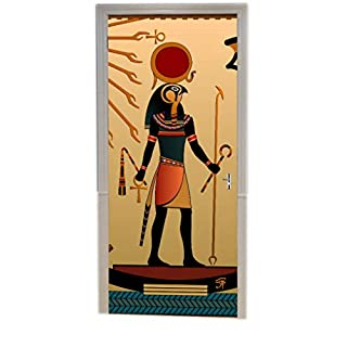 A.Monamour Ancient God Sun Ra Old Egyptian Faith Icon Traditional 3D Print Eco-Friendly Vinyl Room Door Decals Wallpaper Wall Murals Removable Stickers Posters DIY Art Decors