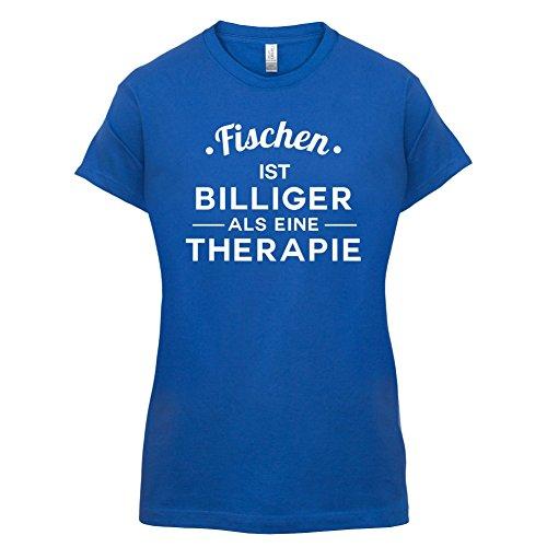 Fischen ist billiger als eine Therapie - Damen T-Shirt - 14 Farben Royalblau